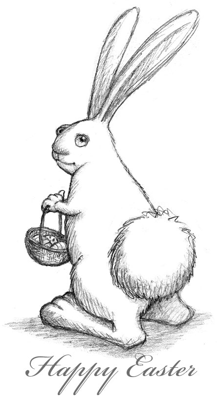 Tags: cartoon, children's illustration, drawing, Easter, easter bunny,