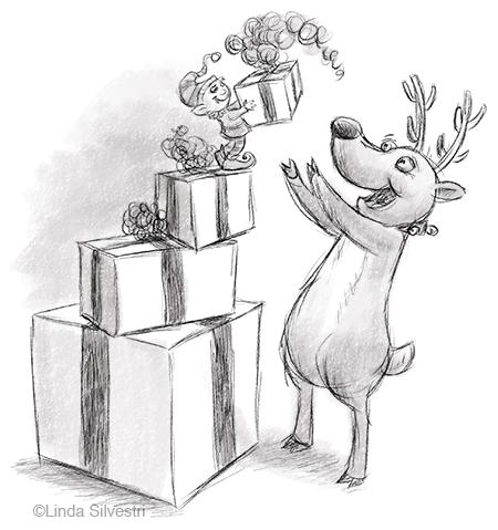 elf deer gift 450