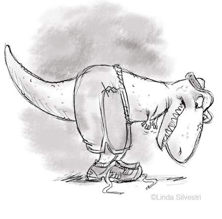 t_rex tie shoe 450