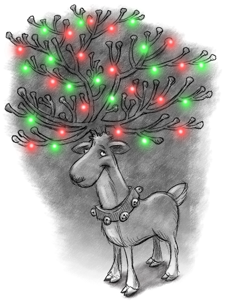 reindeer lights 450