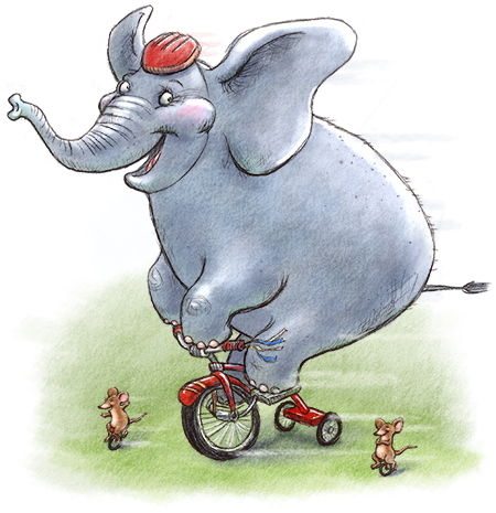 elephant on wheels450
