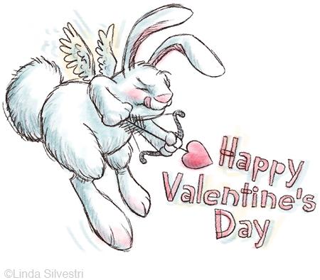 valentine bunny cupid450