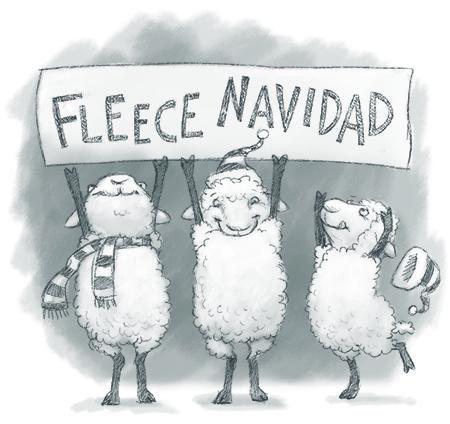 fleece navidad sheep 450