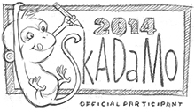 SkADaMo button 2014 monkey220