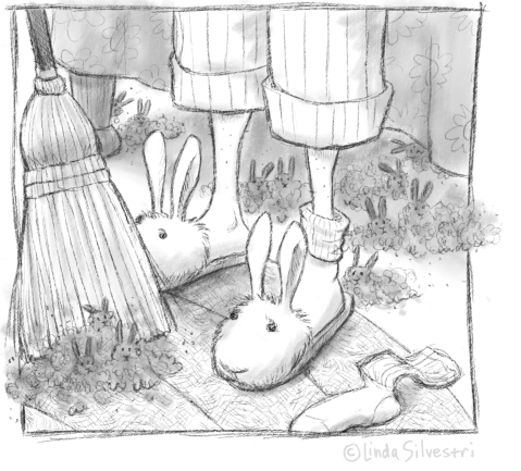 easter bunny slippers new