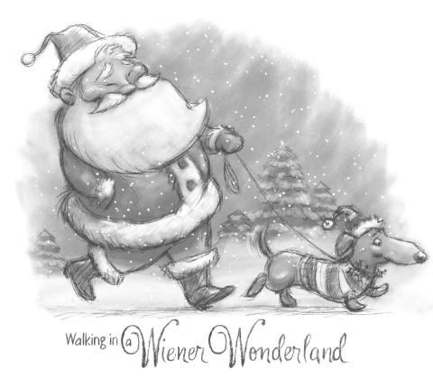 walking in a weiner wonderland 4 card