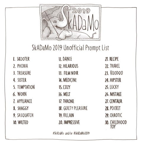 SkADaMo 2019 Prompts